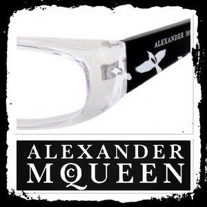 Alexander McQueen Clear Frame Bird Eyeglasses